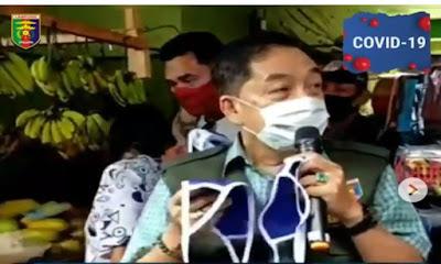 Cegah Penyebaran Covid-19, Tim Gugus Tugas Provinsi Turun ke Sejumlah Pasar di Bandarlampung