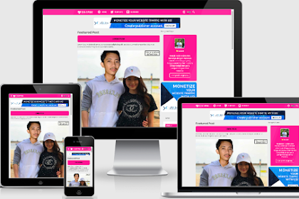 TEMPLATE | TEMPLATE 3 IN 1 PINK STYLE RESPONSIVE PREMIUM FREE DOWNLOAD