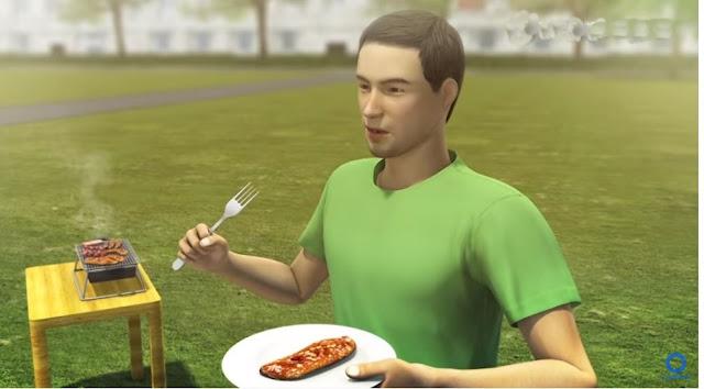 Ngeri, Karena Setiap Hari Mengonsumsi Makanan Mentah, Kepala Pria Ini Keluar Belatung.