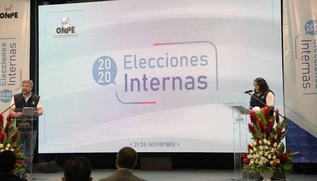Resultados elecciones internos ONPE 2020, lista de candidatos a la presidencia Perú