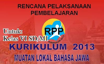 Download RPP Bahasa Jawa K-13 Kelas 6 SD/MI