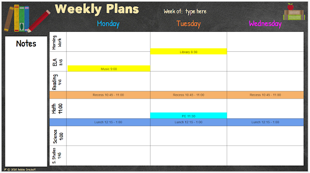 For more planning space you can split the days on your planner.