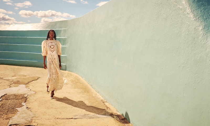Adut Akech stars in Zimmermann resort 2021 campaign.