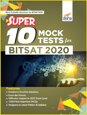 Download Disha BITSAT Super 10 Mock Tests Pdf Latest Edition