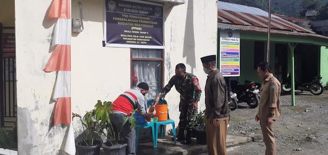 Silaturahmi Dengan prangkat Desa, Babinsa Koramil 01/Kota Ingatkan  Protokol Kesehatan