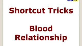 BLOOD RELATION ALL  PROBLEMS AND SHORTCUT TRICKS NOTE