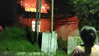 Akibat Puntung Rokok, Rumah Alfida Di Perum Gunung Terbakar