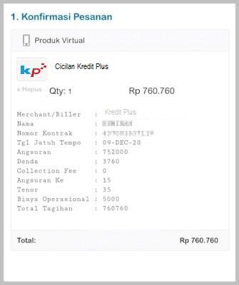 cek tagihan Kredit Plus online