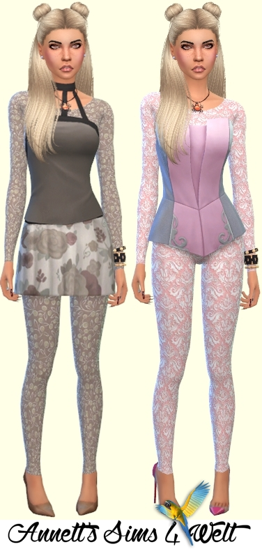 Annetts Sims 4 Welt: Accessory Transparent Catsuits