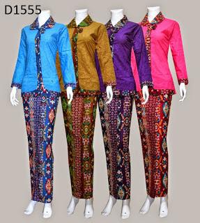 Model Baju Batik Kerja Seragam Modern