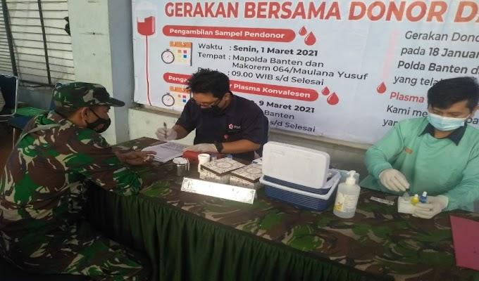 PMI Banten dan TNI-Polri Gelar Donor Plasma Konvalesen