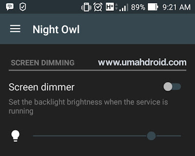 Screen Dimming Night Owl