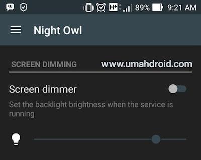 Screen Dimming Night Owl