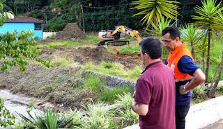 Secretário de Meio Ambiente Flavio Castro e o subscretário de Defesa Civil, Albert Andrade, na Posse
