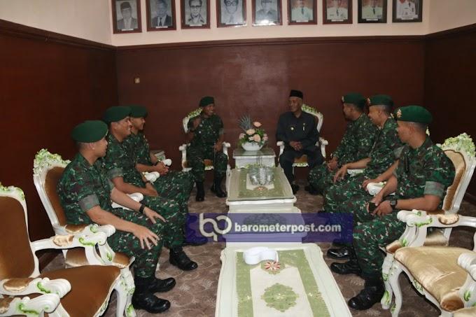 Bupati Bondowoso Kehadiran Tamu Danyonif Raider 514