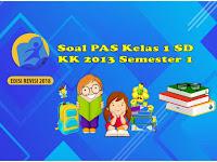Soal PAS Kelas 1 SD Kurikulum 2013 Semester 1 Lengkap Kunci Jawaban