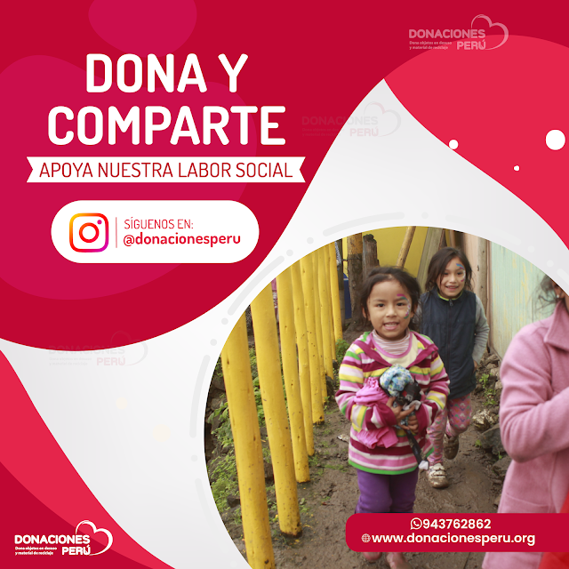 Síguenos en Instagram @donacionesperu