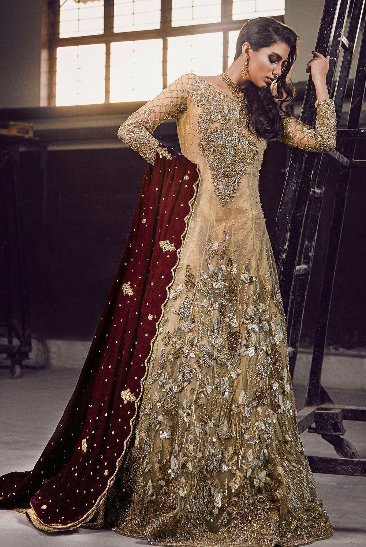 Pakistani bridal dresses by MIRUSAH for Mehndi, Barat and Walima
