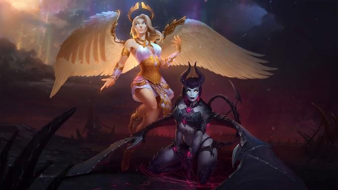 Papel de Parede Anjo e Demônio