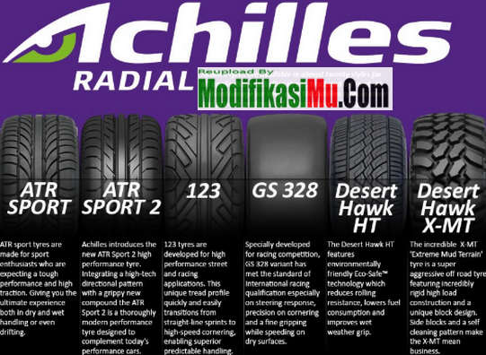 Jenis Jenis Ban Achiless - Achilles Tires You Can Trust - Update Daftar Harga Ban Mobil Achilles Termurah Untuk Semua Ukuran Ring Pelek