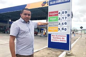 Campina não pode continuar vítima do grupo que domina os postos de combustíveis, diz Alexandre
