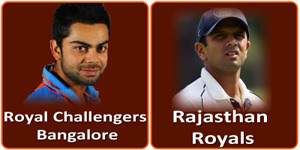 RCB vs RR on 20 April 2013