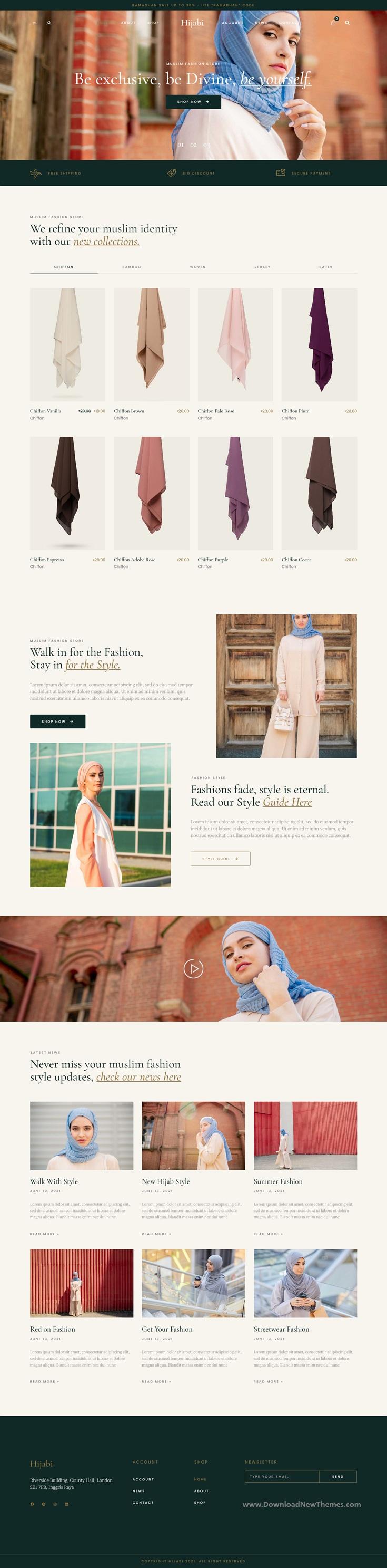 Hijabi - Muslim Shop WooCommerce Elementor Template Kit