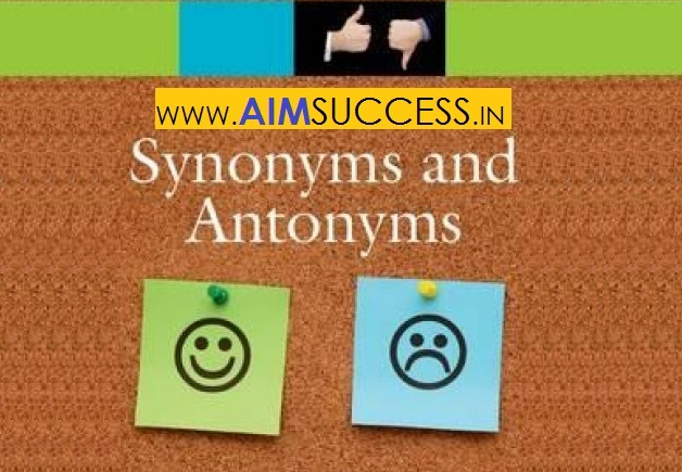 Synonym Questions for SSC CHSL Tier-I 2018