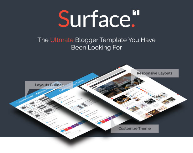 Surface - Responsive Magazine Blogger Theme - 1