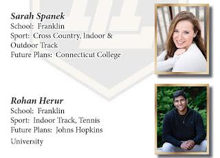 Class of 2020 Scholar-Athletes - FHS - Sarah Spanek and Rohan Herur