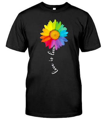 Love Is Love Rainbow Sunflower LGBT Gay Lesbian Pride T Shirts Hoodie