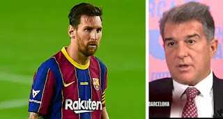 Laporta not happy with PSG public interest in Leo Messi wants FIFA intervention