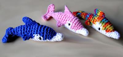 Delfines amigurumi tejidos en crochet