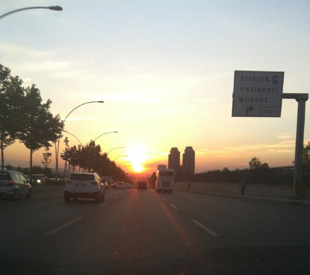 Andando de carro na Turquia