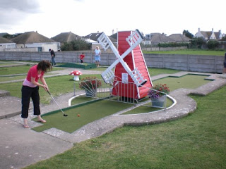 Crazy Golfing on the classic Arnold Palmer Putting Course in Prestatyn