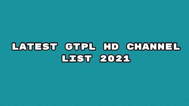 Latest gtpl hd channel list 2021