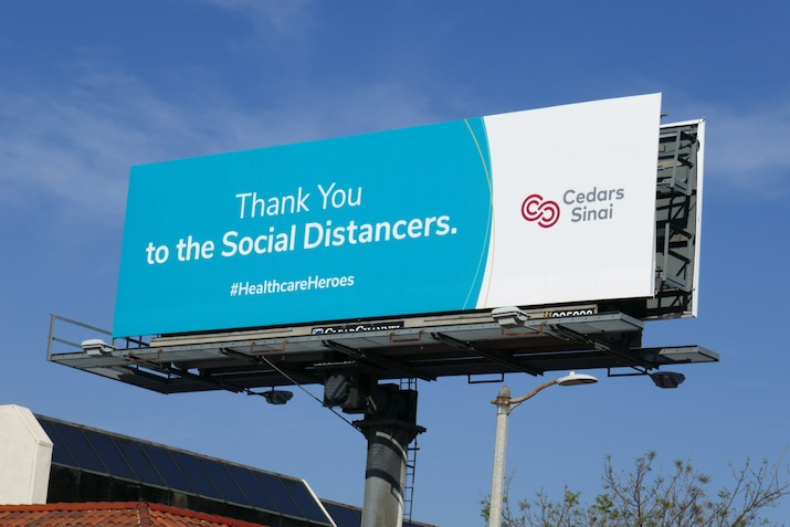 Thank you Social Distancers Cedars-Sinai billboard