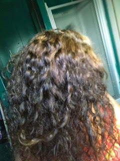 color fix on curly hair