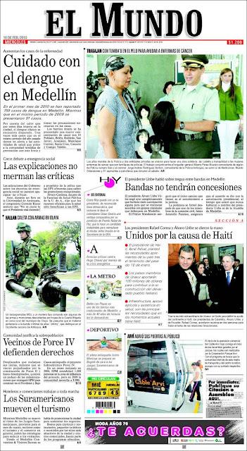 hoyennoticia.com, El Mundo desaparece parcialmente de Medellín