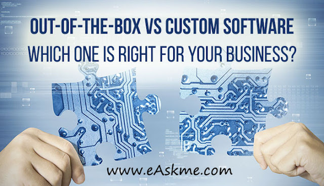 Out-of-the-box vs custom software - which one is right for your business?: eAskme