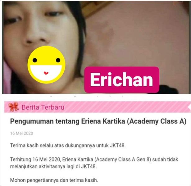 Kasus Foto Skandal Erichan JKT48 Eriena Kartike Graduate 2