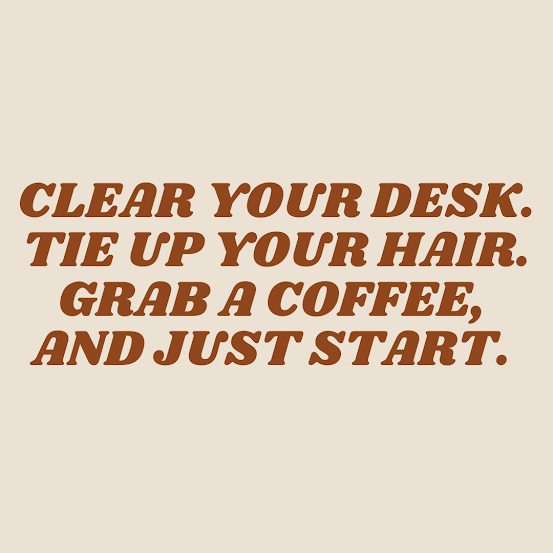 Just Get Started Graphic | biblio-style.com