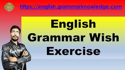 English Grammar Wish Exercise