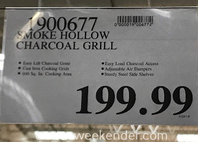 Deal for the Smoke Hollow CG600S Charcoal Grill at Costco