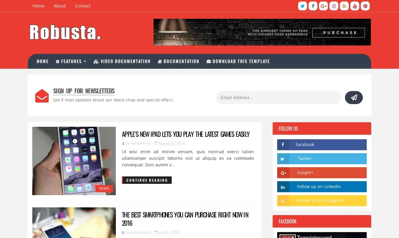 Robusta blogger template download free, how to use robusta blogger template