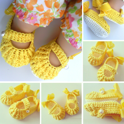 Beautiful Skills - Crochet Knitting Quilting : Crochet Baby Shoes ...