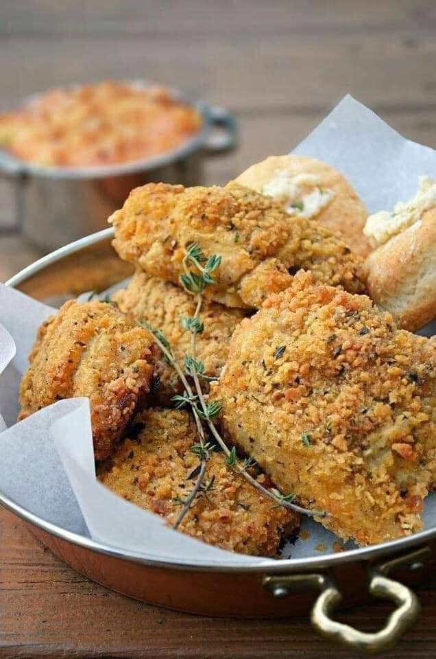 دجاج مقلى على الطريقة الجنوبية