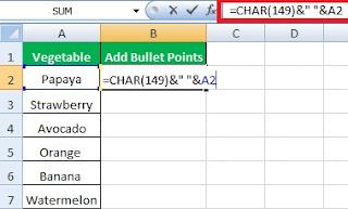 3 Simple Ways To Insert Bullet Point In Excel | 3 आसान तरीके एक्सेल में बुलेट पॉइंट लगाने के