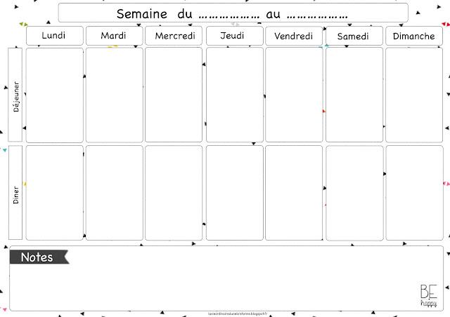 La Vie Ordinaire D Une Bretonne Menu De La Semaine 6 15 Jours D Idee De Repas Free Printable