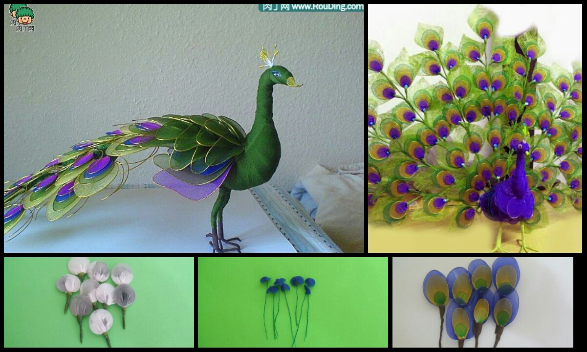 how to make peacock of nylon crazzy craft